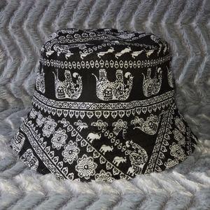 Unisex Elephant Mandala Reversible Bucket Hat